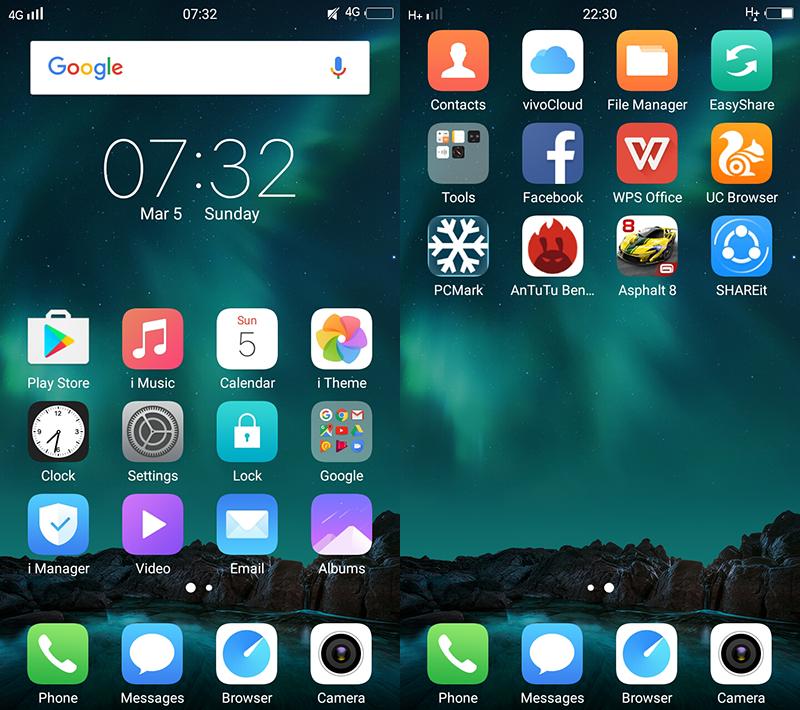 Custom iOS-like Android skin!