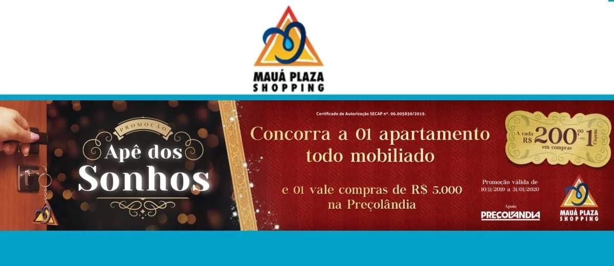 Promoção Mauá Plaza 2020 Apê dos Sonhos Concorra Apartamento Mobiliado