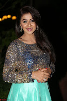 Nikki Galrani in Green Skirt  Top at Marakathamani music launch ~  Exclusive (95).JPG