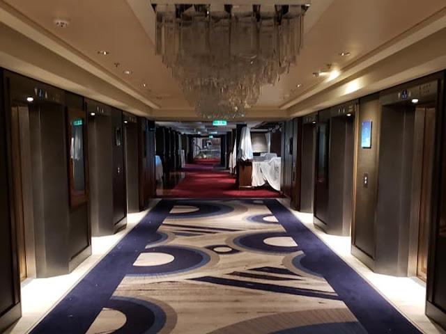 Empty luxury cruise ship