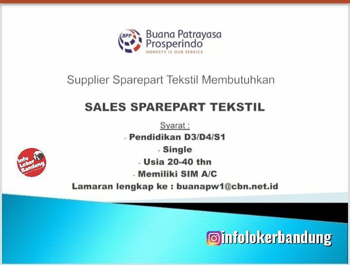 Lowongan Kerja Buana Patrayasa Prosperindo Bandung September 2019