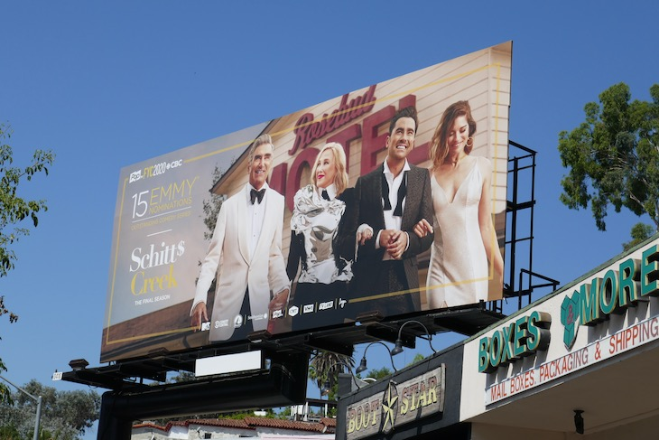 Schitts Creak final season Emmy nominee billboard