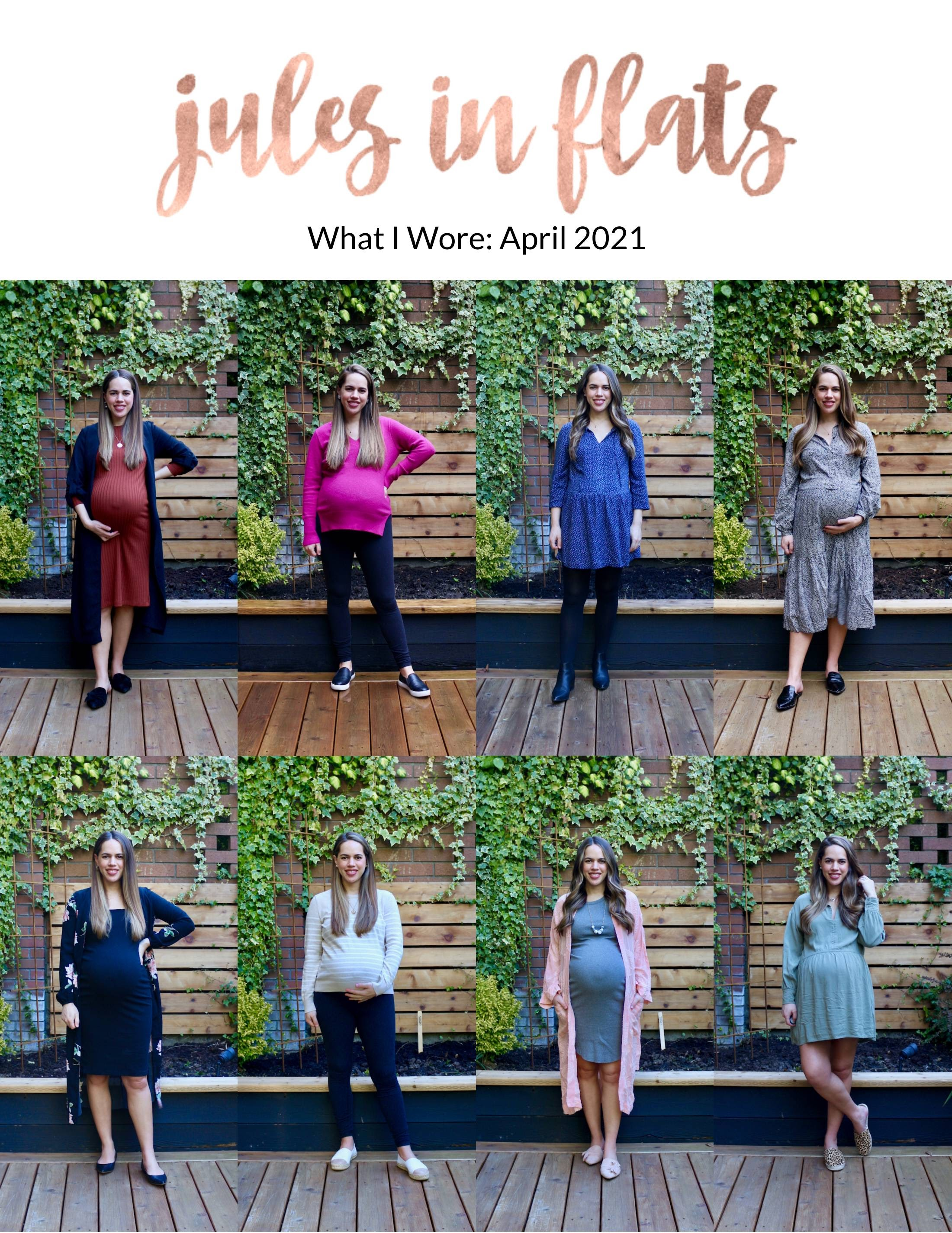 Jules in Flats - Monthly Outfit Roundup April 2021