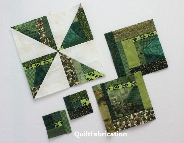 dark green pinwheel quilt blocks for RSC2020