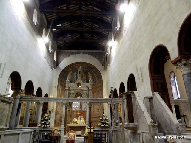 Altar-mor da Igreja de Santa Maria in Cosmedin, em Roma