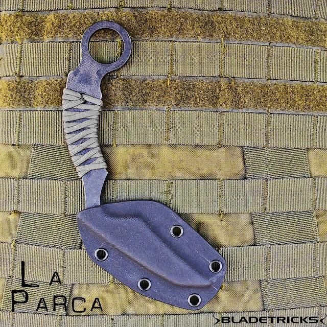 Best karambit designer and maker tactical scythe La Parca karambit