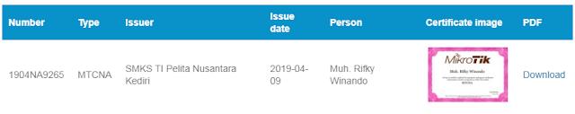 cek sertifikat mikrotik