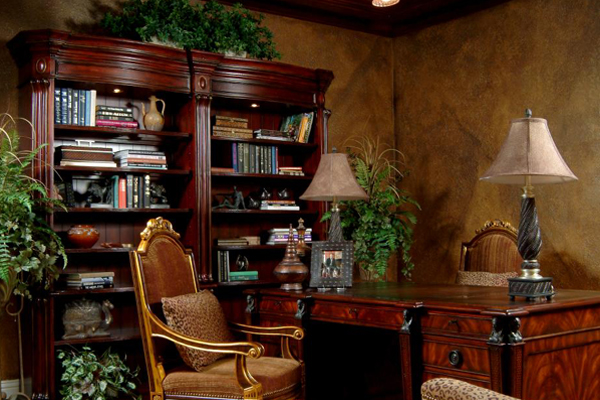 Decorating an old world style home office homeagination for Old world home decor