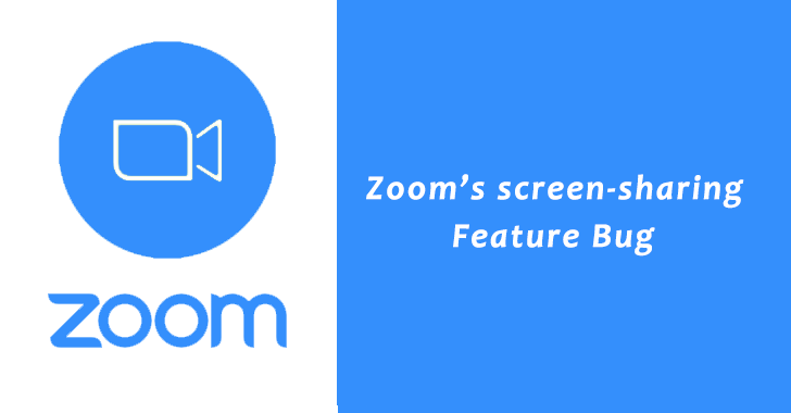 Zoom's screen-sharing Feature Bug