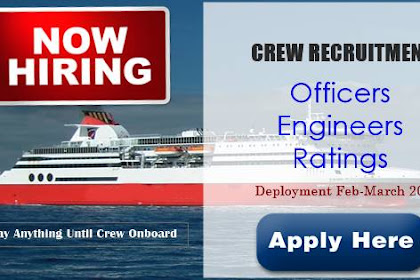 Hiring Officers, Engineers, Ratings For Passenger Ships