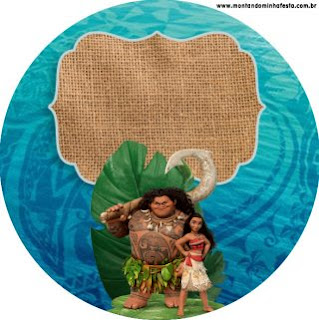 Lovely Moana Free Printable Wrappers and Toppers for Cupcakes.