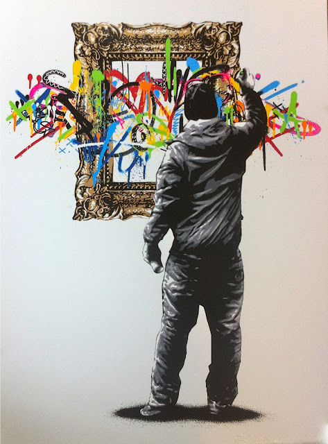 """Framed"" New Limited Edition Screen Print By Norwegian Street Artist Martin Whatson. 3"