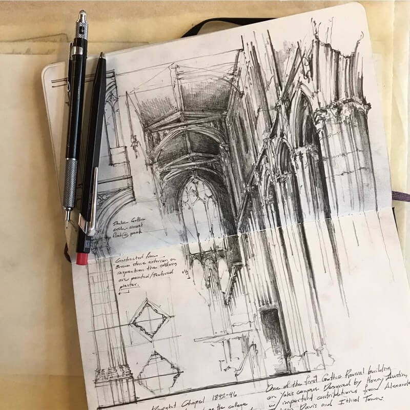 04-Dwight-Chapel-Jerome-Tryon-Travel-Architectural-Urban-Sketches-www-designstack-co