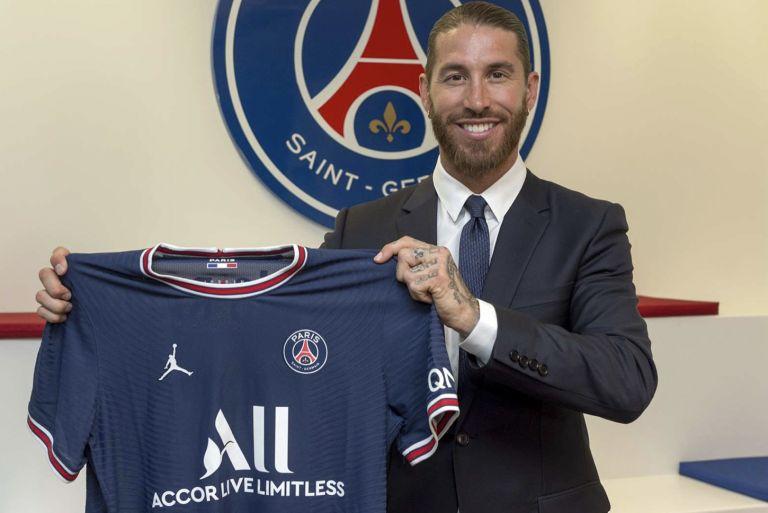 Paris Saint-Germain defender Sergio Ramos