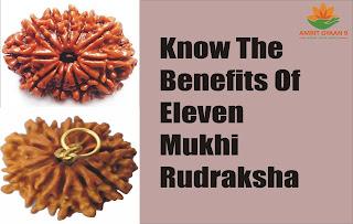 Know the Benefits Of 11 Mukhi Rudraksha Benefits