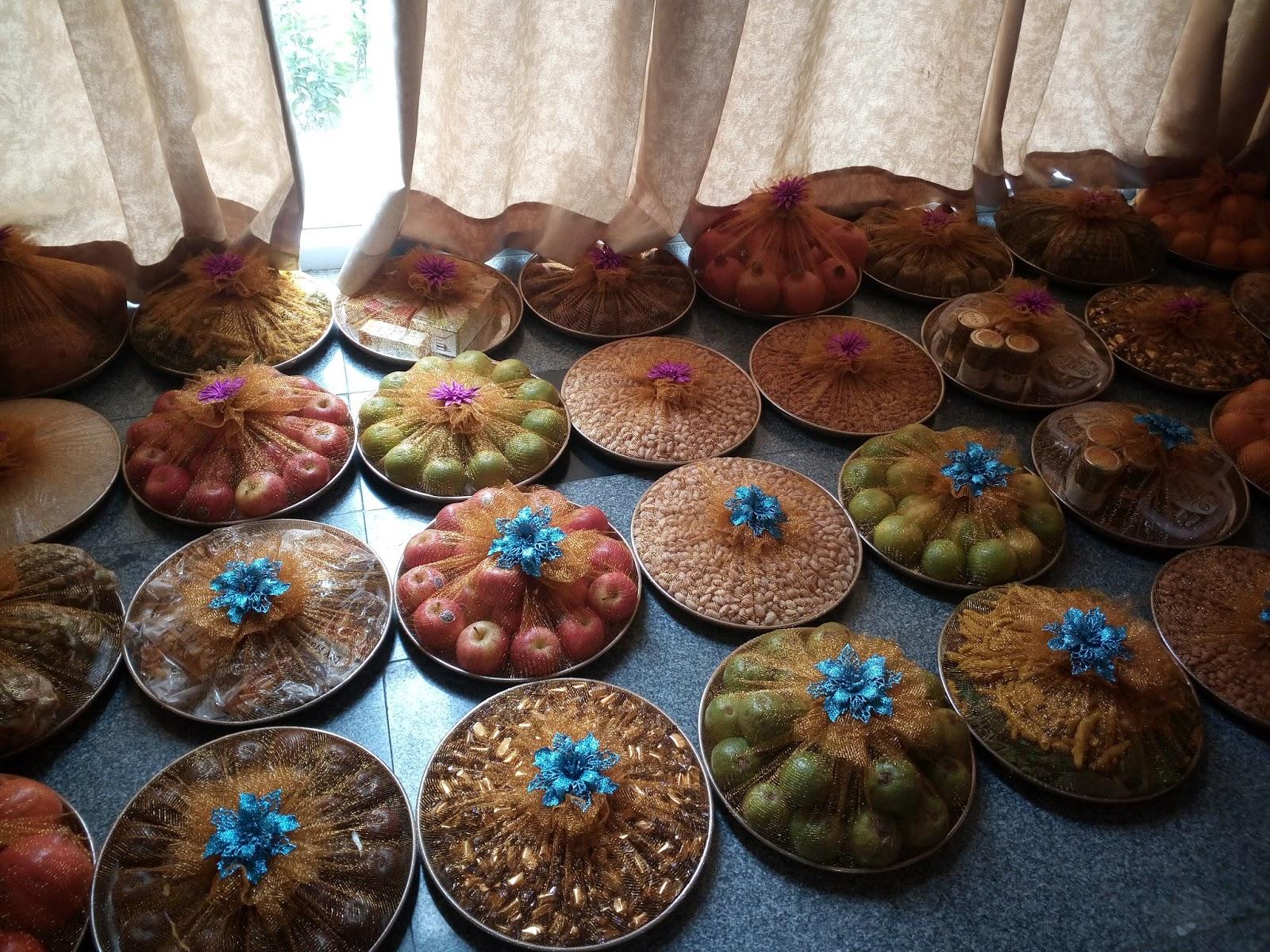 Seer Varisai Plates Decoration At Green Park Hotel