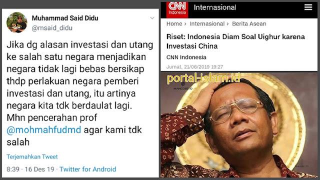Mahfud MD Terbungkam Ditanya Said Didu Soal Investasi dan Utang Yang Membuat Negara Tak Lagi Berdaulat