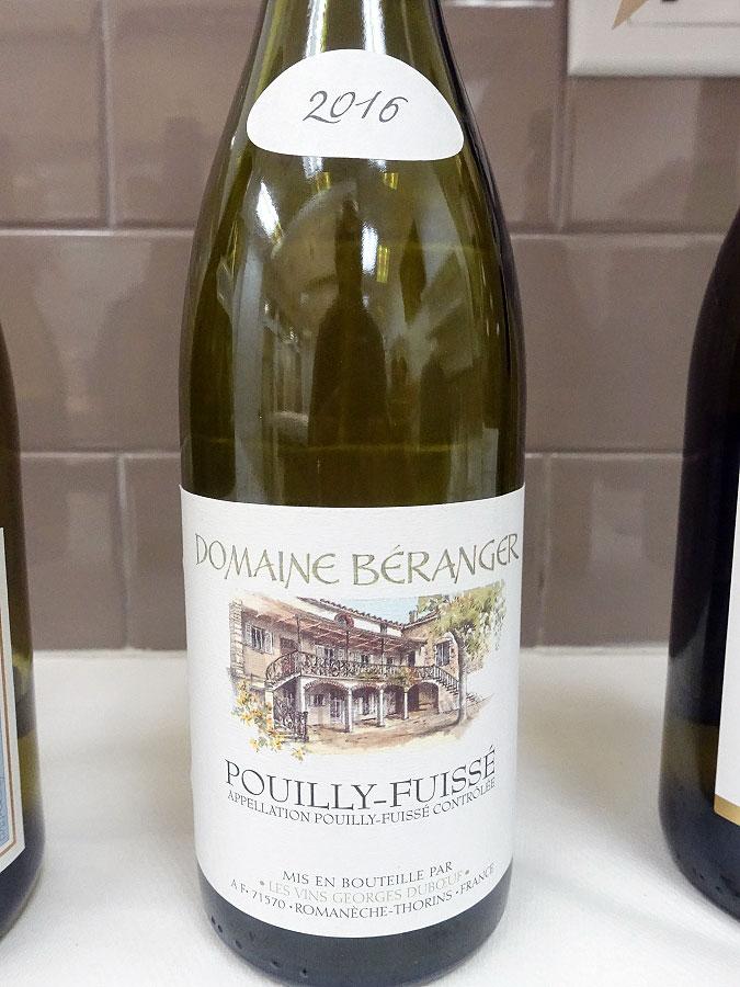 Domaine Béranger Pouilly-Fuissé 2016 (91 pts)