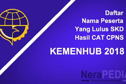 Inilah Daftar Nama Peserta Yang Lulus SKD hasil CAT CPNS KEMENHUB 2018