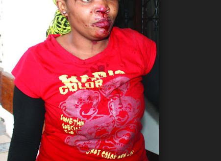 OMG!  Female Student Beaten and Str!pped Na.ked After She Was Caught By Her Sugar Daddy's Wife