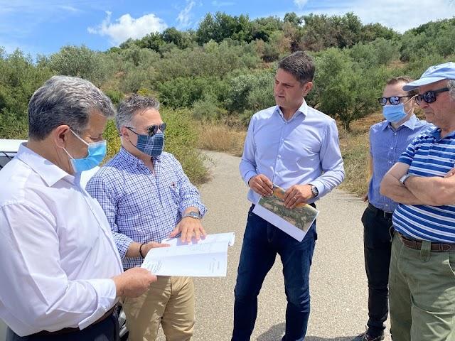 Στον χώρο όπου θα κατασκευαστεί η λιμνοδεξαμενή Τρικόρφου ο Δήμαρχος Μεσσήνης Γιώργος Αθανασόπουλος