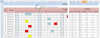 adh-excel.com Rekap absensi per hari excel