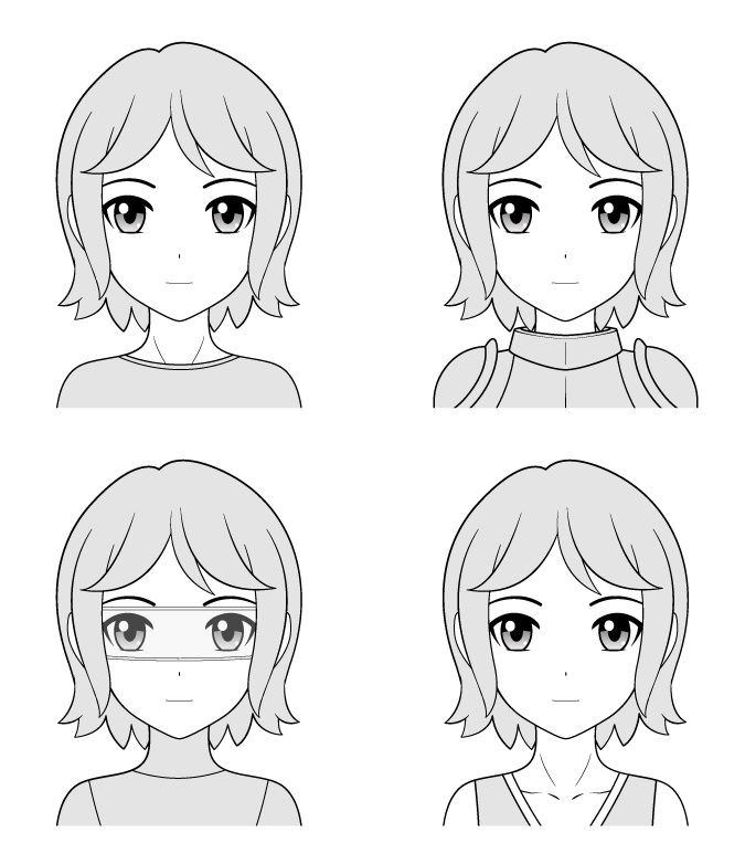 Jenis karakter manga