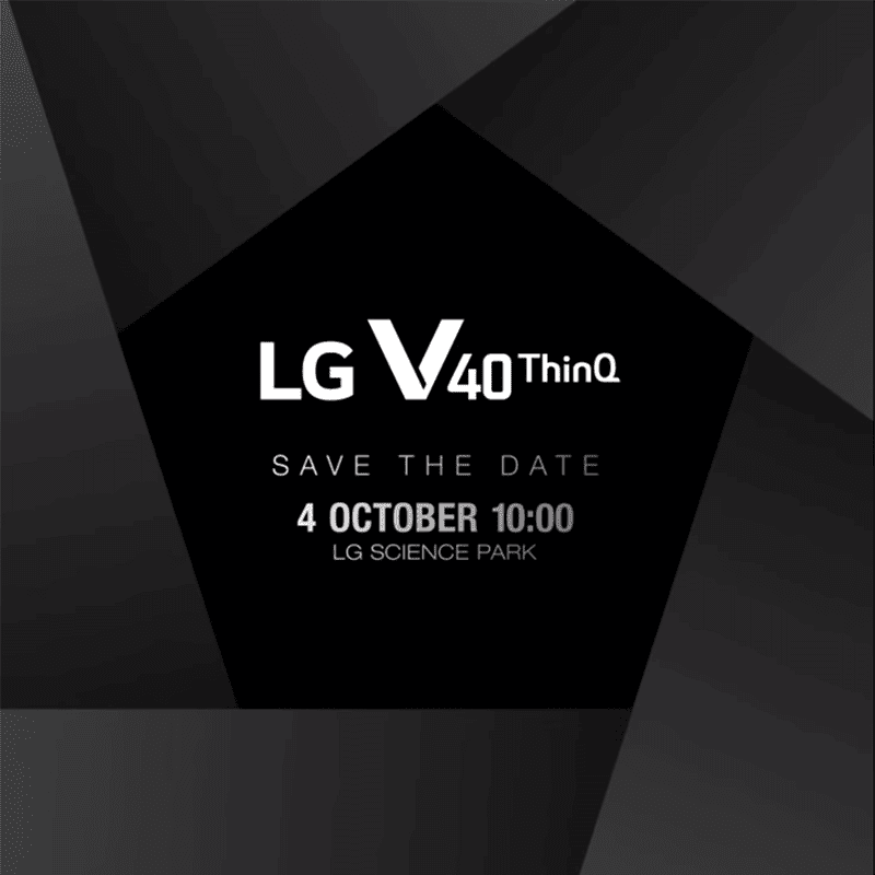 LG V40 ThinQ will be launched on October 3!