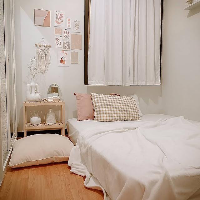 Ide Desain Kamar Tidur Ukuran 2×3 Sederhana, Nyaman dan Terlihat Luas