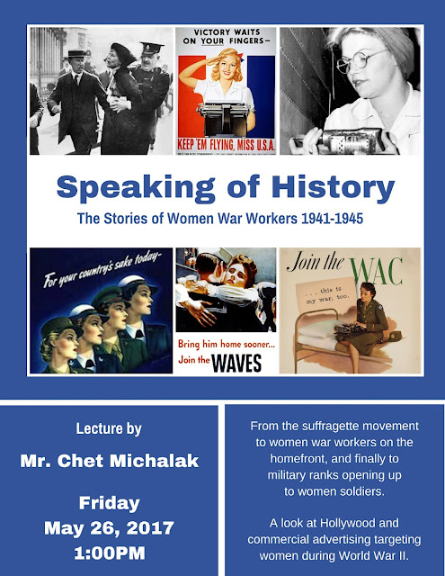 Don't Miss Speaking of History: The Stories of Women War Workers 1941-1945 on May 26, 2017