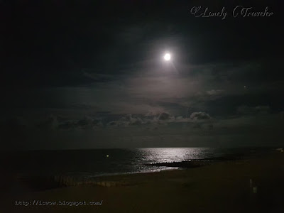 Eastbourne moonlight night
