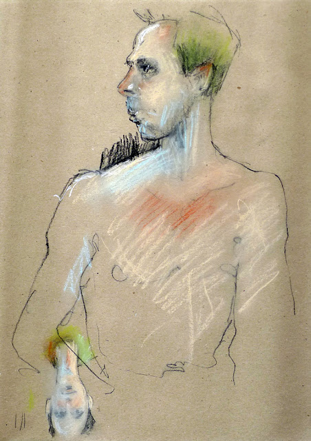 Sketch of male model by David Meldrum 20130326