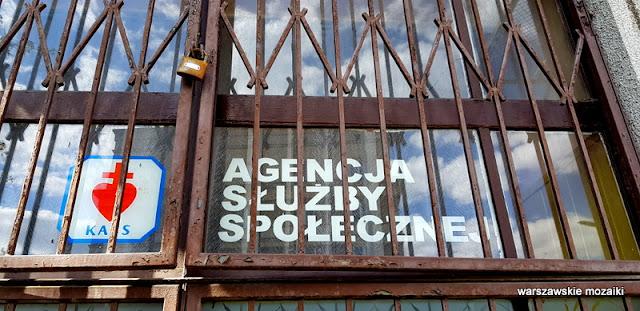 Agencja Służby Społecznej szyld retro Warszawa Warsaw szyldy Sielce