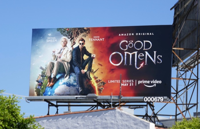 Good Omens Amazon Prime billboard