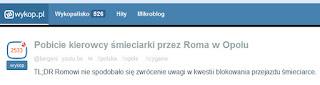 http://www.wykop.pl/link/3436005/pobicie-kierowcy-smieciarki-przez-roma-w-opolu/najnowsze/