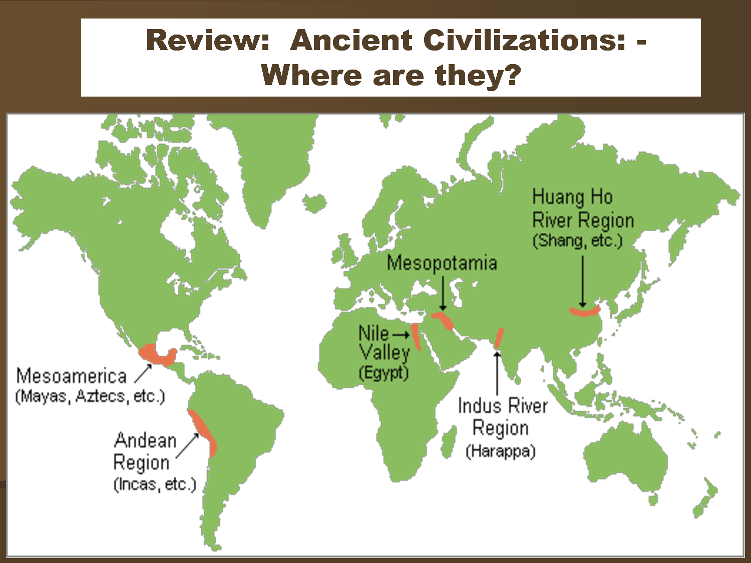 Period 1 Ancient Civilizations Visual Resources