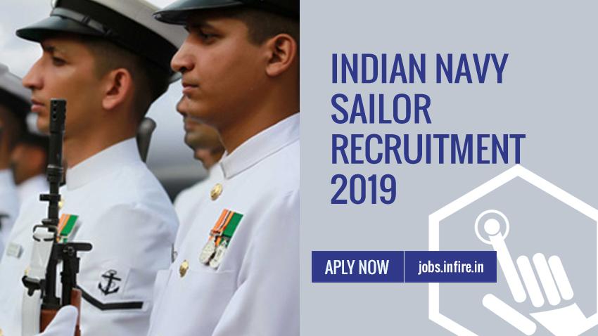 Indian Navy Sailor Recruitment 2019 (3400 Vacancies for 10+2) - Apply Online