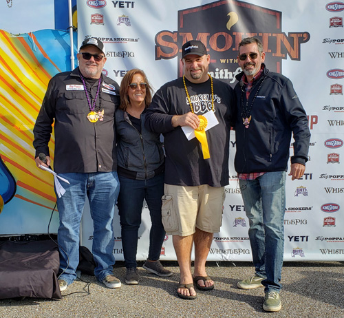 Iowa Smokey D's BBQ won 3rd place at the 2019 Smokin' with Smithfield National Barbecue Championship