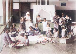 anak-anak di panti asuhan zending rmg rheinisiche missionsgesellschaft di sipoholon
