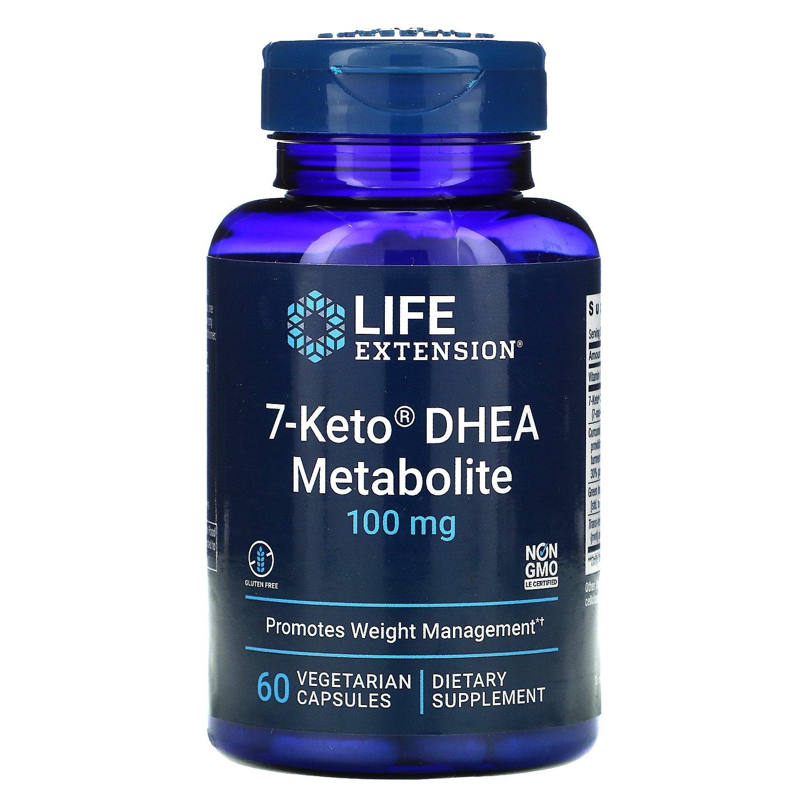 Life Extension, 7-Keto, ДГЭА, метаболит, 100 мг, 60 растительных капсул