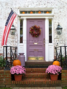 Fall Door Wreath with Pumpkins