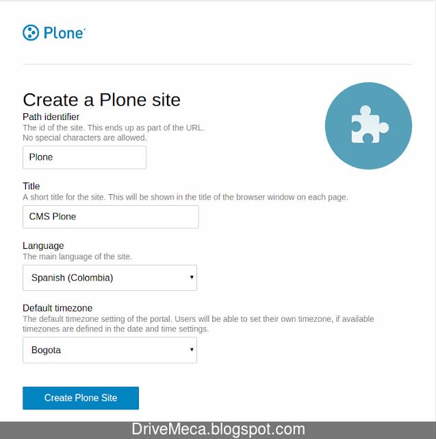 Creamos un sitio en Plone