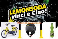 Logo ''Lemonsoda Vinci e Ciao'': vinci 273 forniture Lemonsoda, 26 Caschi e 3 Piaggio Ciao!