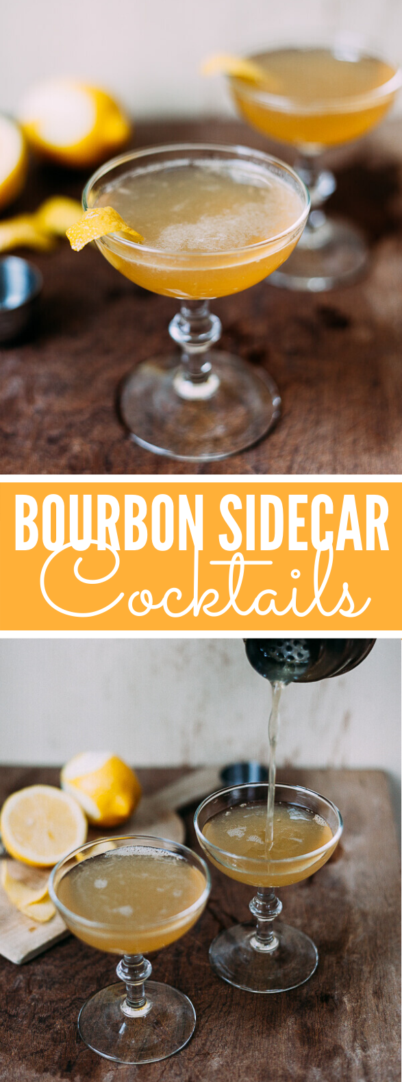 BOURBON SIDECAR COCKTAIL #drinks #partydrink