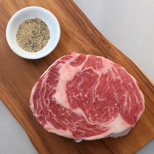 Certified Angus Beef USDA Prime ribeye steak