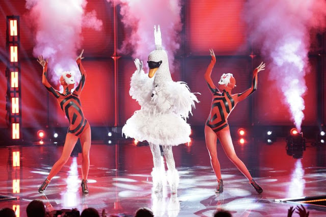 The Swan is the latest celebrity to leave The Masked Singer Photo: FOX