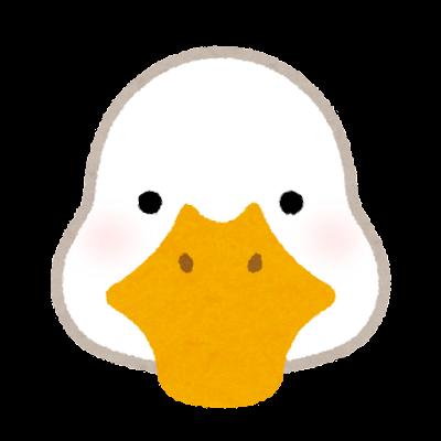 アヒルの顔のイラスト