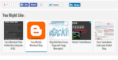 Cara Membuat Sekaligus Memasang Artikel Terkait Bergambar di Blog