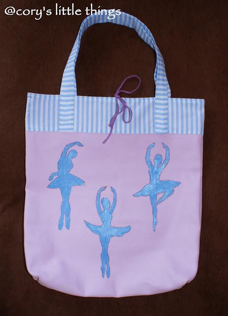 """Shades of dancing ballerinas"" textile bag"