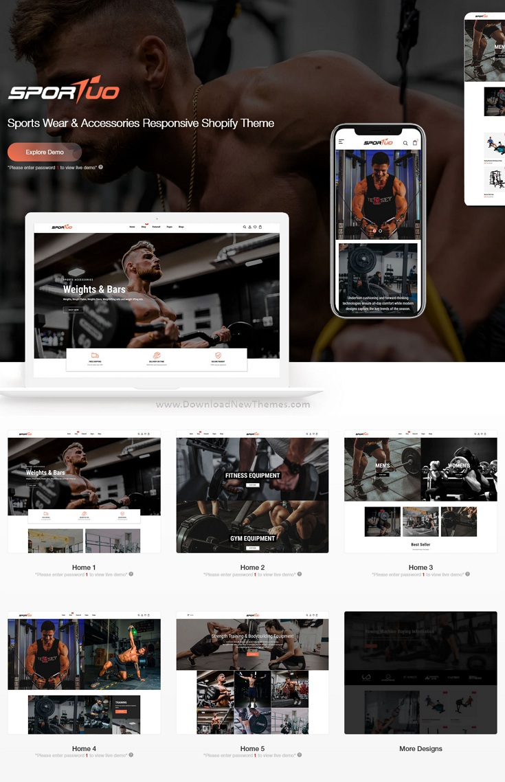 Sportuo - Sports Wear & Accessories Responsive Shopify Theme